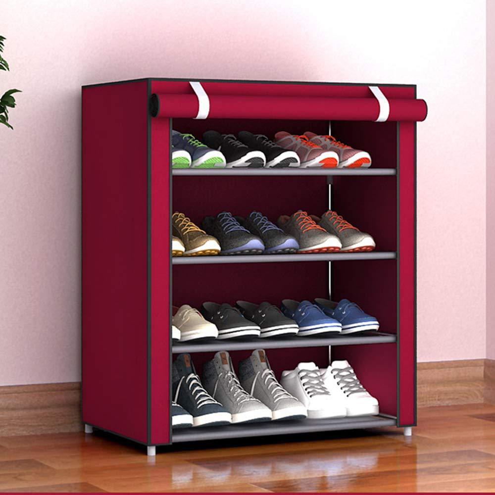 Gabinete Organizador de Almacenamiento de Zapatos con Cubierta de Tela no Tejida 15 Pares de Zapatos de Torre 6 Niveles, Rojo Haihuic Estante de Zapatos port/átil