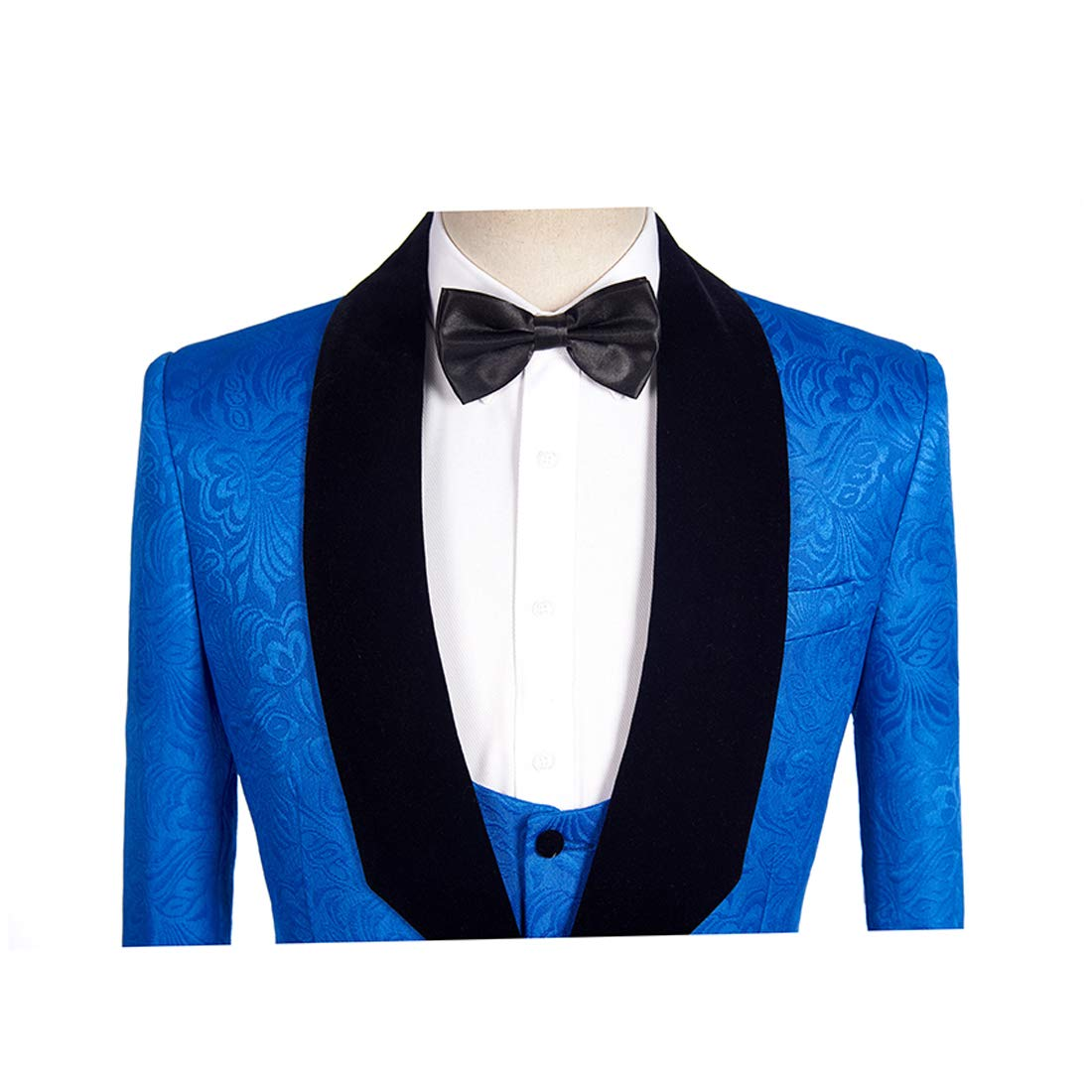Printed Blazer for Mens Dress 1 Piece Stylish Luxury Coat Blue Man Suit Jacket for Man s Clothes AB061