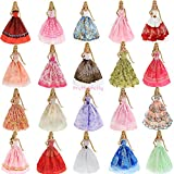 Lot 5Pcs Handmade Wedding Dress Party Gown Clothes Outfits For Barbie Doll Gift