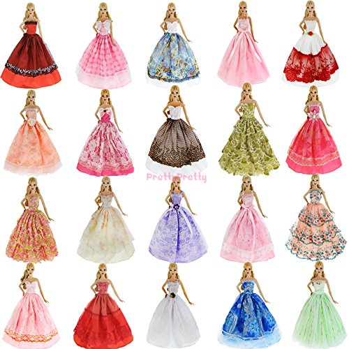 Bride Costume Target - Lot 5Pcs Handmade Wedding Dress Party Gown Clothes Outfits For Barbie Doll Gift