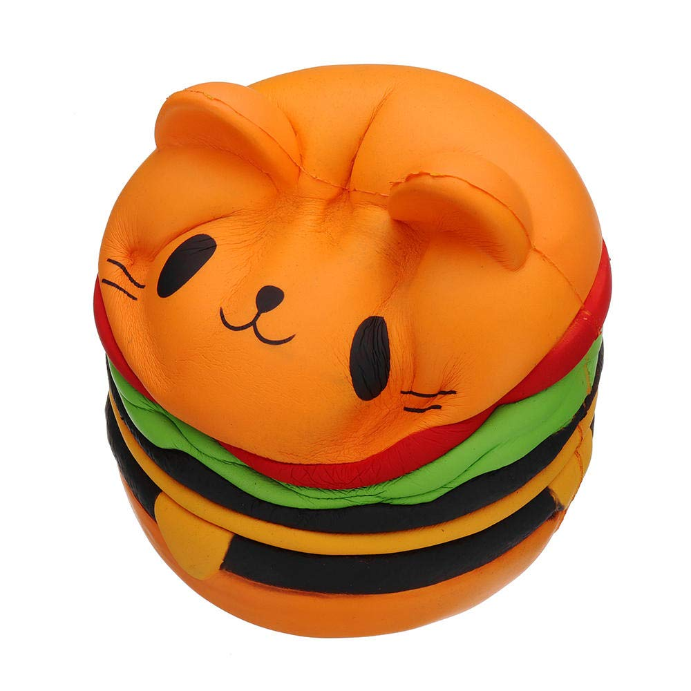 Giant Squishy Toy Soft Jumbo Slow Rising Squishies Collection Gift Decor Stress Reliever (Cat Burger) by Ganjiang (Image #8)