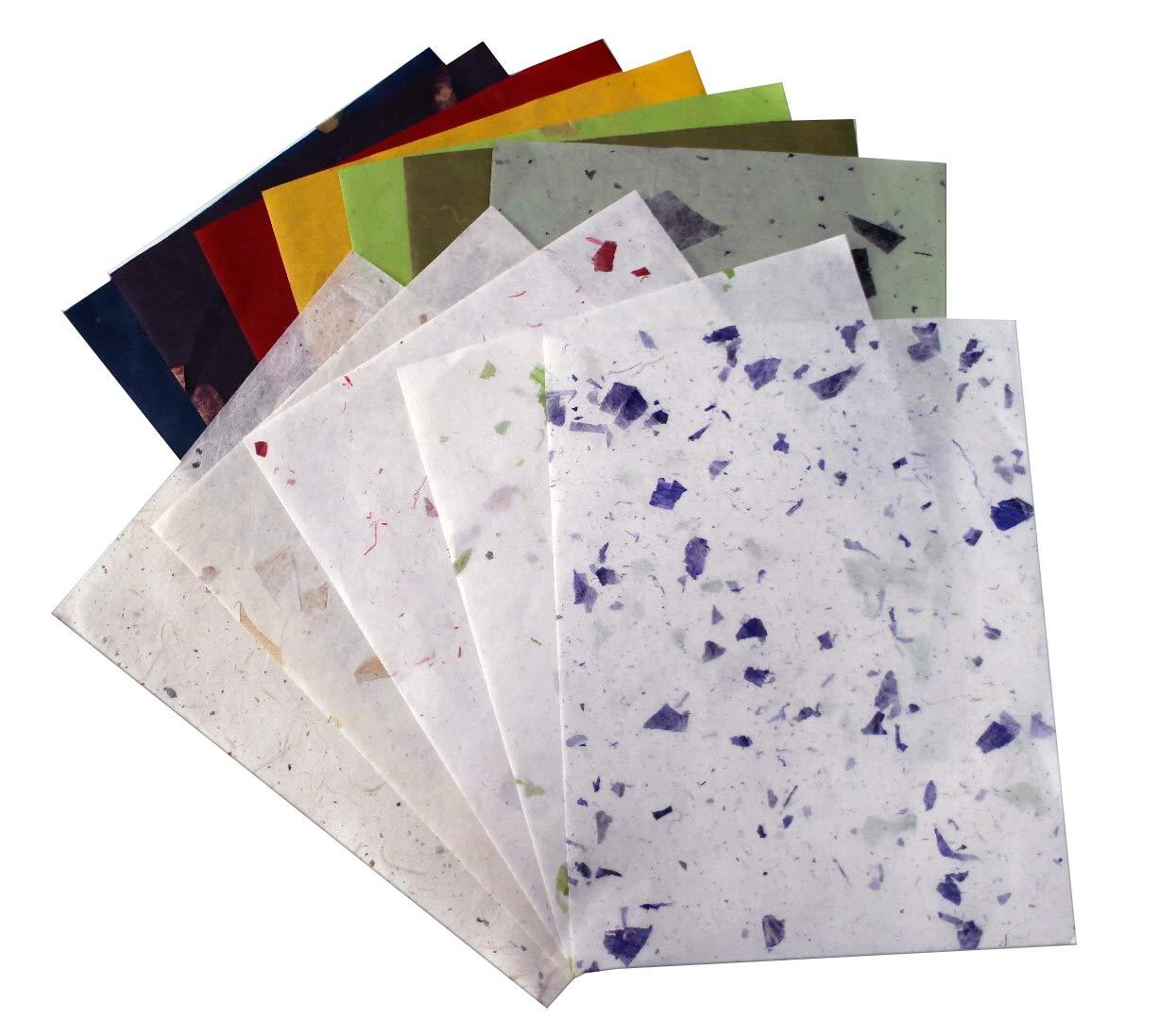 10pz Thin Mulberry pergamena cartoncino idee scrapbook design tessuto collage Art foglio di carta da parati texture background MulberryPaperStock