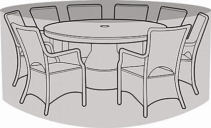Garland 8 Seater Round Furniture Set Cover - Silver Grade W1404