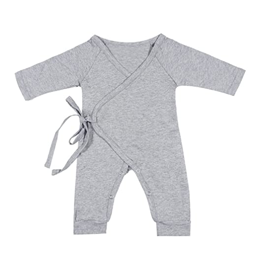 f0e834aac Amazon.com  MIOIM Newborn Infant Toddler Baby Girls Boys Kimono Side ...