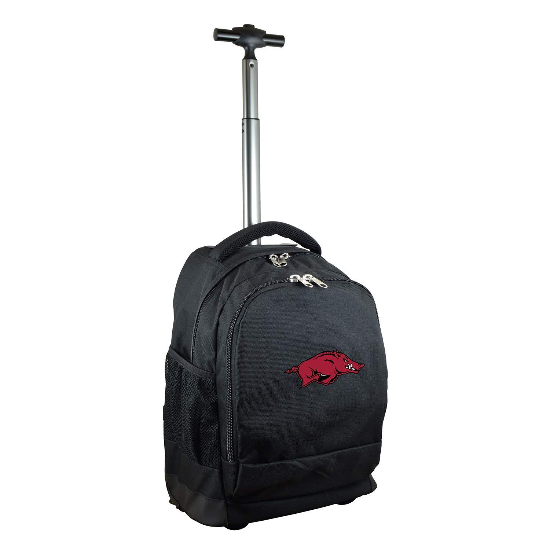 NCAA Arkansas Razorbacks Expedition Wheeled Backpack, 19-inches, Black