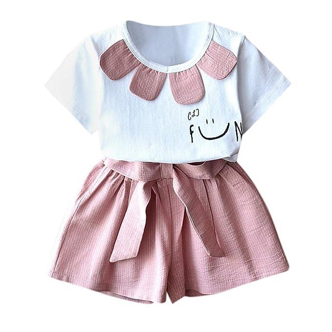 Amazon.com: Conjunto de ropa para bebés y niñas de 2 piezas ...