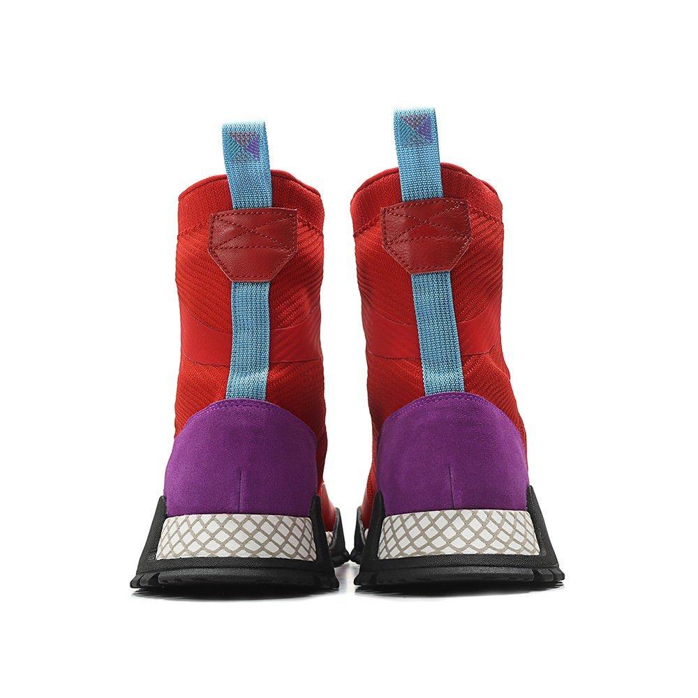 reputable site 79c98 db649 Amazon.com  adidas Mens Originals AF 1.3 PK Primeknit Boot REDPurpleBlack   Fashion Sneakers