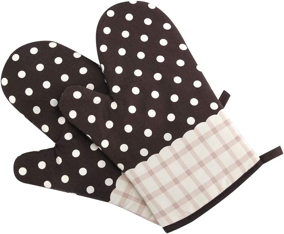 Basic Tool For Home,Kitchen Cooking Cotton Microwave Oven Gloves Mitts Pot Pad Heat Proof Protected