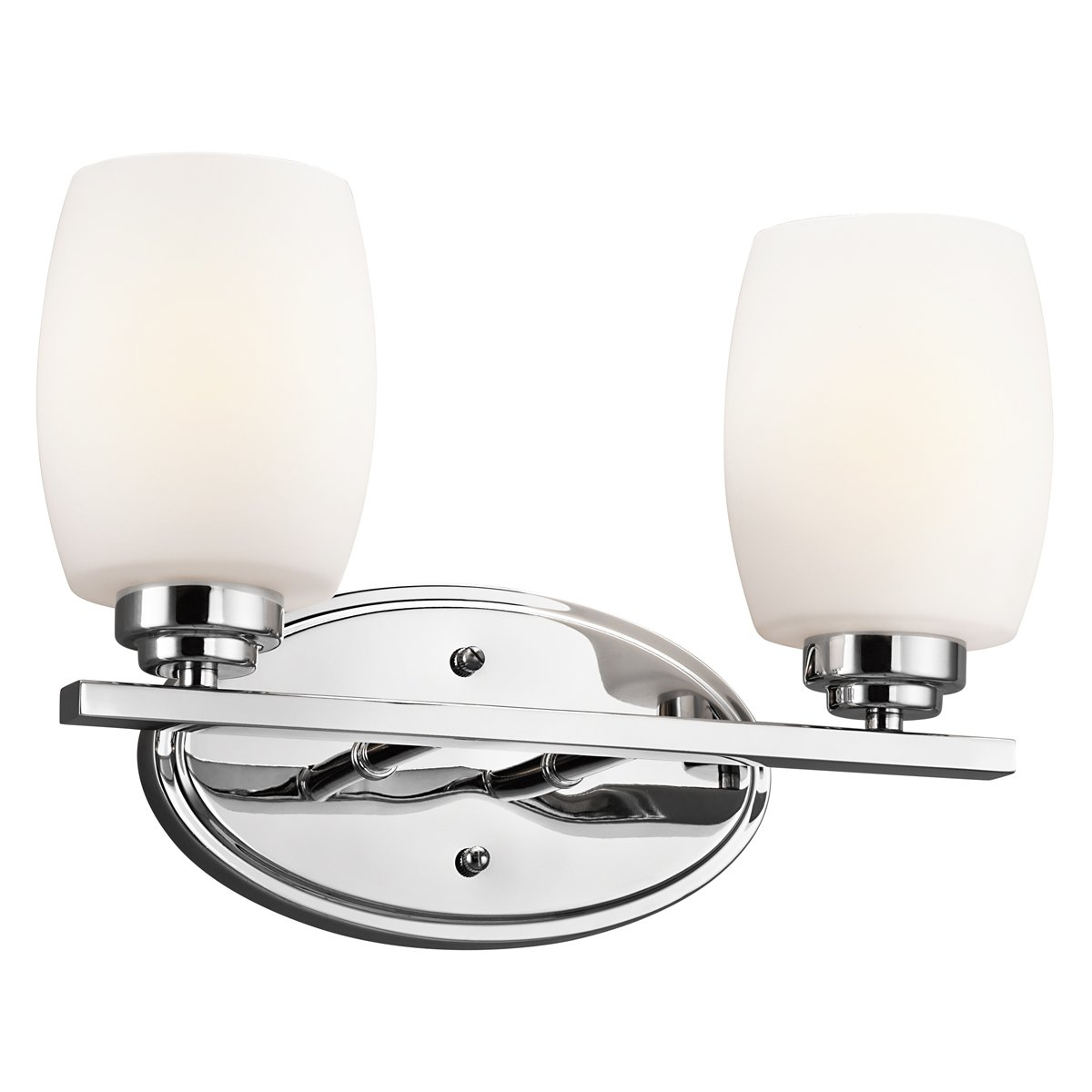 Kichler brushed nickel wall mt 1lt incandescent kichler brushed nickel - Kichler Lighting 5098ni Eileen 3 Light Bath Fixture Brushed Nickel With White Etched Glass Vanity Lighting Fixtures Amazon Com