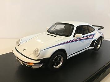 Ixo - Premium-X - prd109 - Porsche 911 Turbo Martini Edition - 1975 - Escala 1/43 - Blanco/Azul/Rojo: Amazon.es: Juguetes y juegos