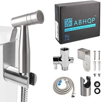 Abhqp Stainless Steel Hand Held Bidet Sprayer Complete Hand Sprayer Set For Bidet Toilet Bt Ss1d Bidet Faucets Amazon Canada
