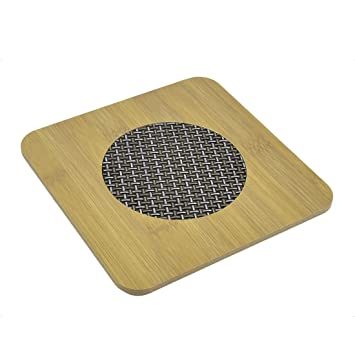 Sourcingmap-Compresa de calor Cocina Hot Pot Stand cuenco-Sartén cuadrada (portavasos Alfombrilla Protector de mesa: Amazon.es: Hogar