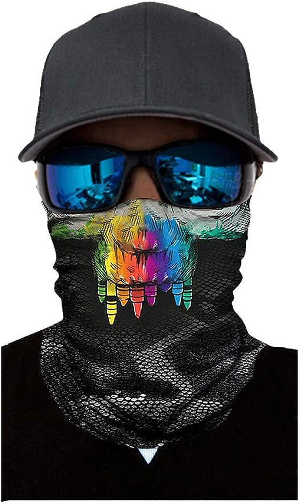Multifunktionstuch Bandana Schlauchtuch Gesichtsmaske Clown Taro-Horror Sch/ädel Halstuch Face Shield Gesichtsmaske Motorrad Fahrrad Skifahren Elastische Stirnband Kopftuch Verschiedene Muster Piebo