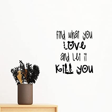 Amazon Com English Word Design Love And Kill Removable Wall Sticker