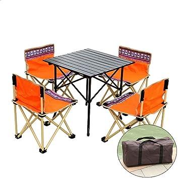 ALF mesa y silla de camping Juego de mesa y sillas plegables 4 ...