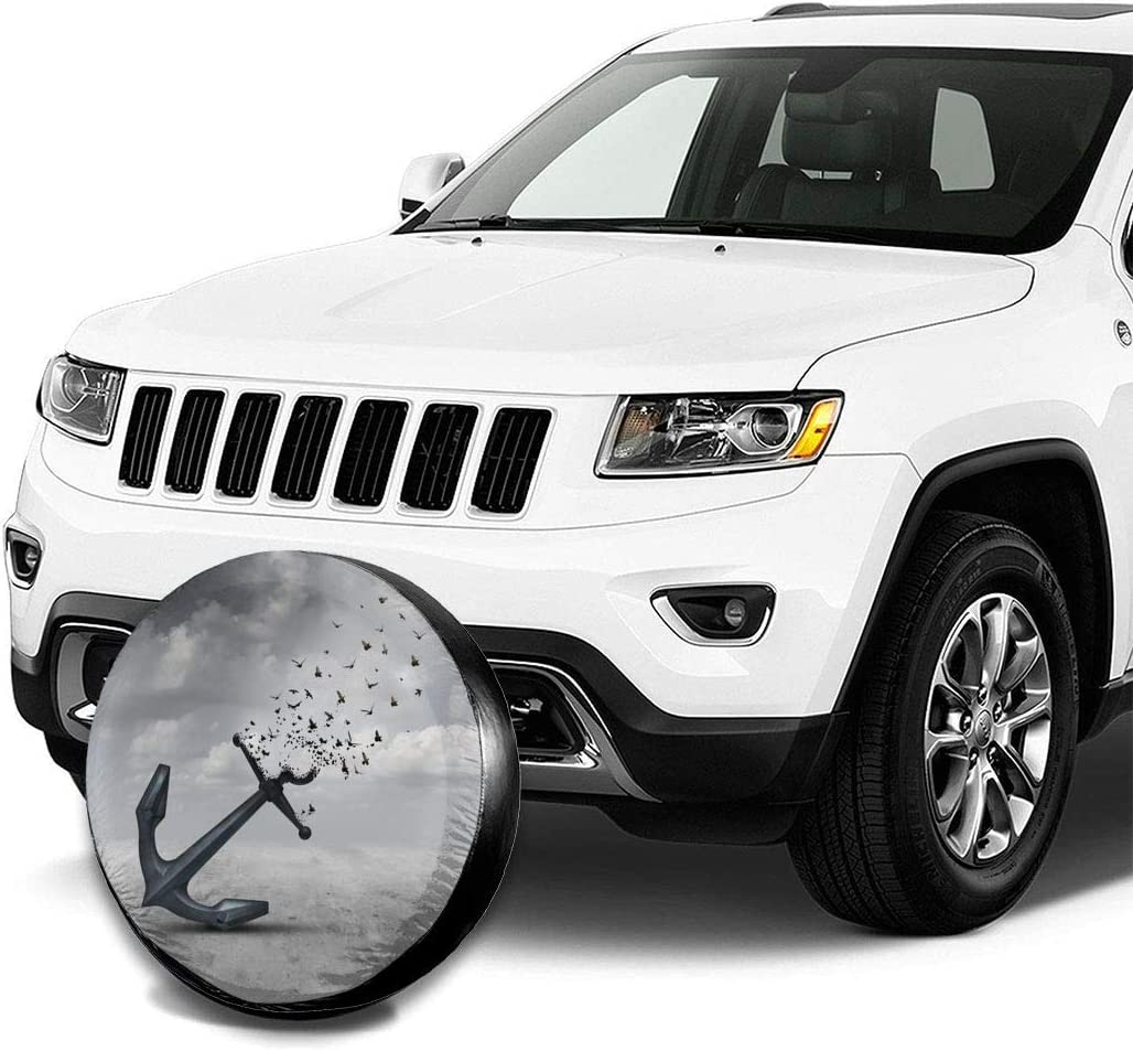 RV Retro Sunflower Spare Tire Cover Waterproof Dust-Proof UV Sun Wheel Tire Cover Fit for Jeep,Trailer SUV and Many Vehicle 14 Inch