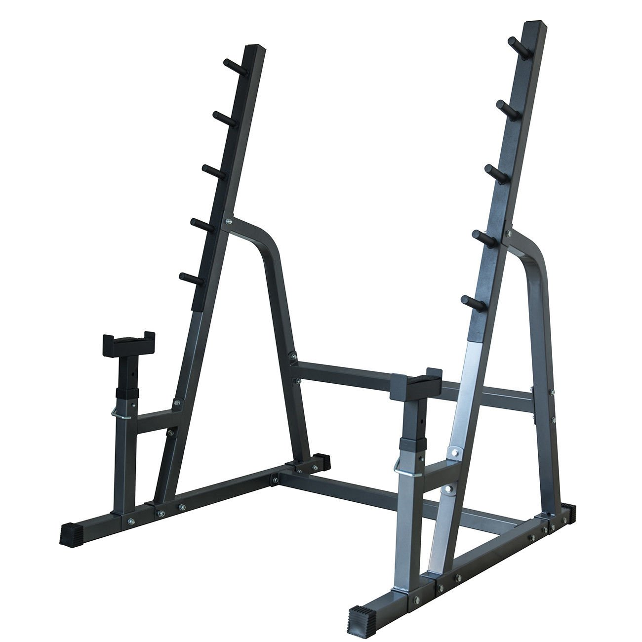 Deluxe Squat/Bench Combo Rack Fitness Exercise Equipment Safety Function Set by Eight24hours