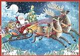 Entertaining with Caspari Santa's Sleigh Advent Calendar
