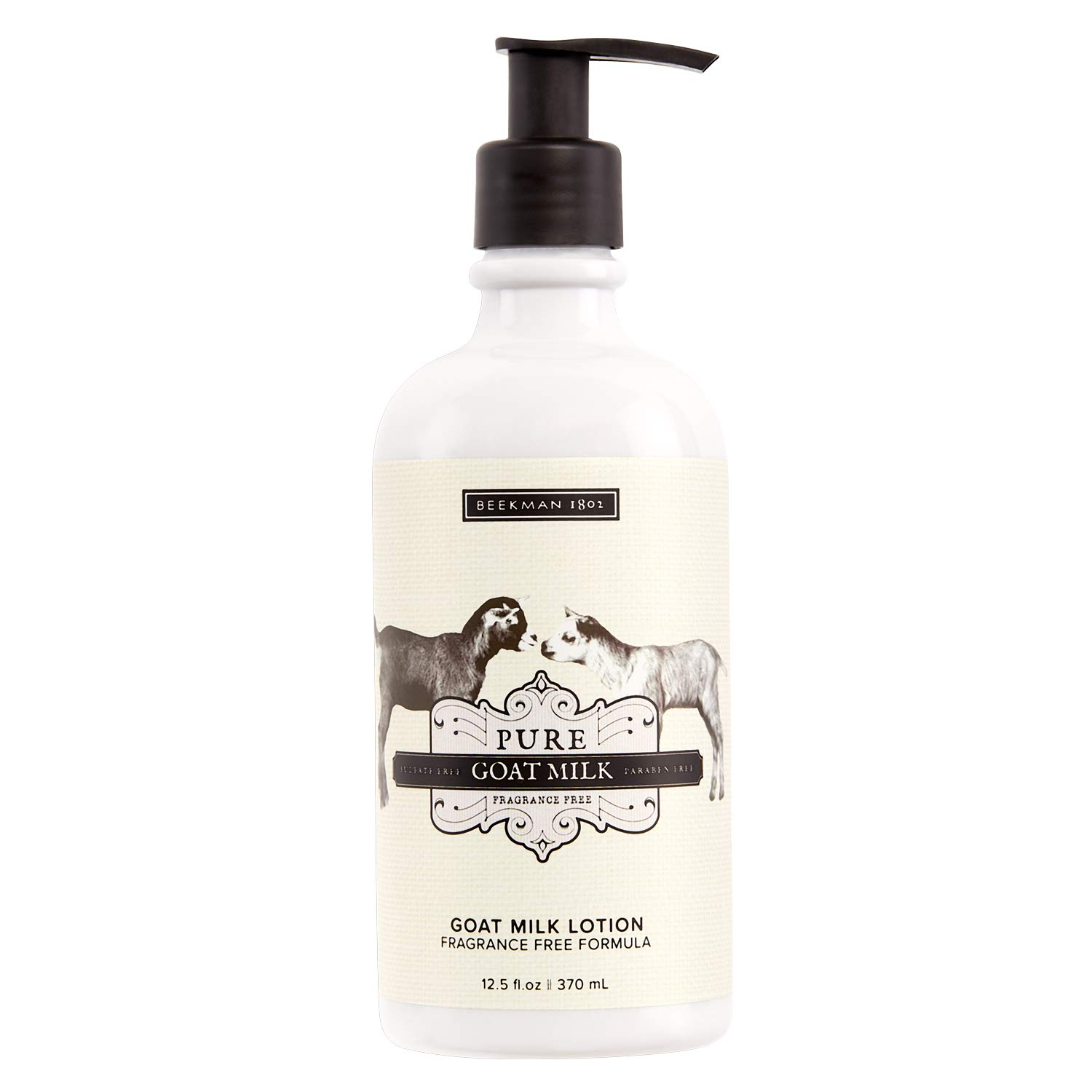 Beekman 1802 - Goat Milk Lotion - Pure Goat Milk - Fragrance-Free Hydrating Goat Milk Lotion for Whole-Body - Cruelty-Free Goat Milk Bodycare - 12.5 oz