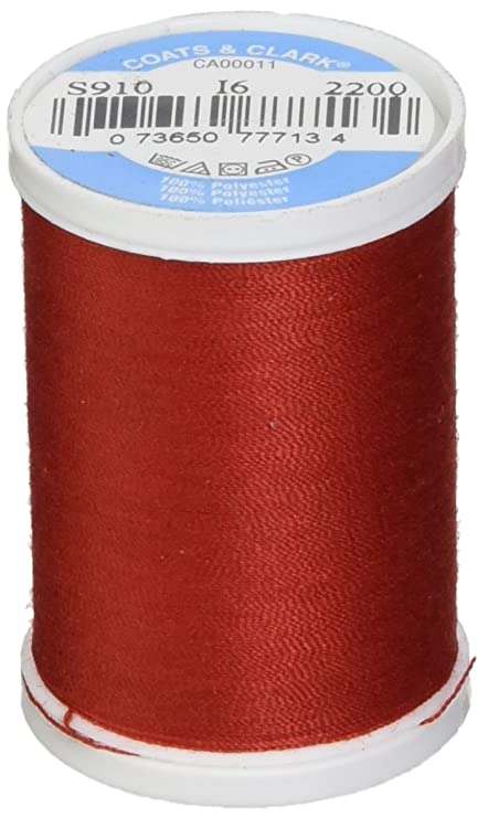 3-Pack Coats /& Clark Dual Duty XP General Purpose Thread 250 Yards Red S910-2250