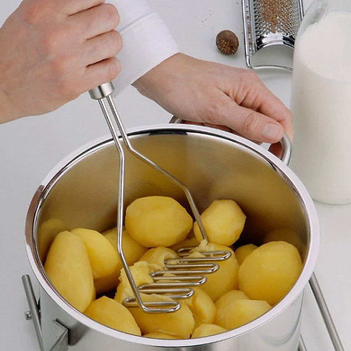 Stainless Steel Potato Ricer Wavy Potato Mud Maker Masher Vegetable Fruit Crusher Portable Kitchen Gadgets Tool