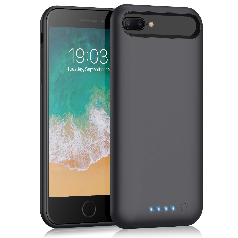 Battery case for iPhone 7 Plus/ 8 Plus/6 Plus/6s Plus, Kilponen 8500mah Portable Protective Battery Charging Case Slim Extended Rechargeable Battery Pack Charger Case for iPhone 8 Plus 7 Plus 6 Plus
