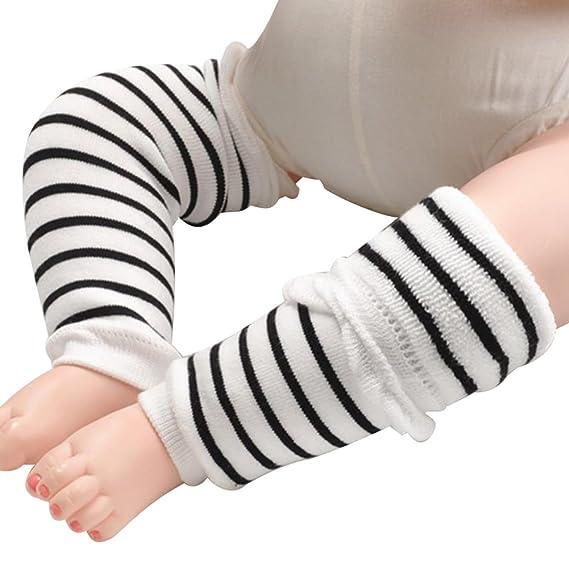Leisial 1 Par Protector Rodilleras de Gateo Calcetines Algodón Gruesos Rastreo Antideslizante Invierno para Bebé Niños