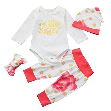 Bebé Conjunto de ropa, lmmvp infantile bebé niña niño letras mango ...
