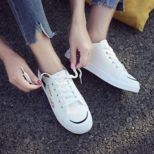 Lace Shopping Leisure Comfortable White Shoes School Students Trave Soles Canvas Shoes up Women xq1XR4n