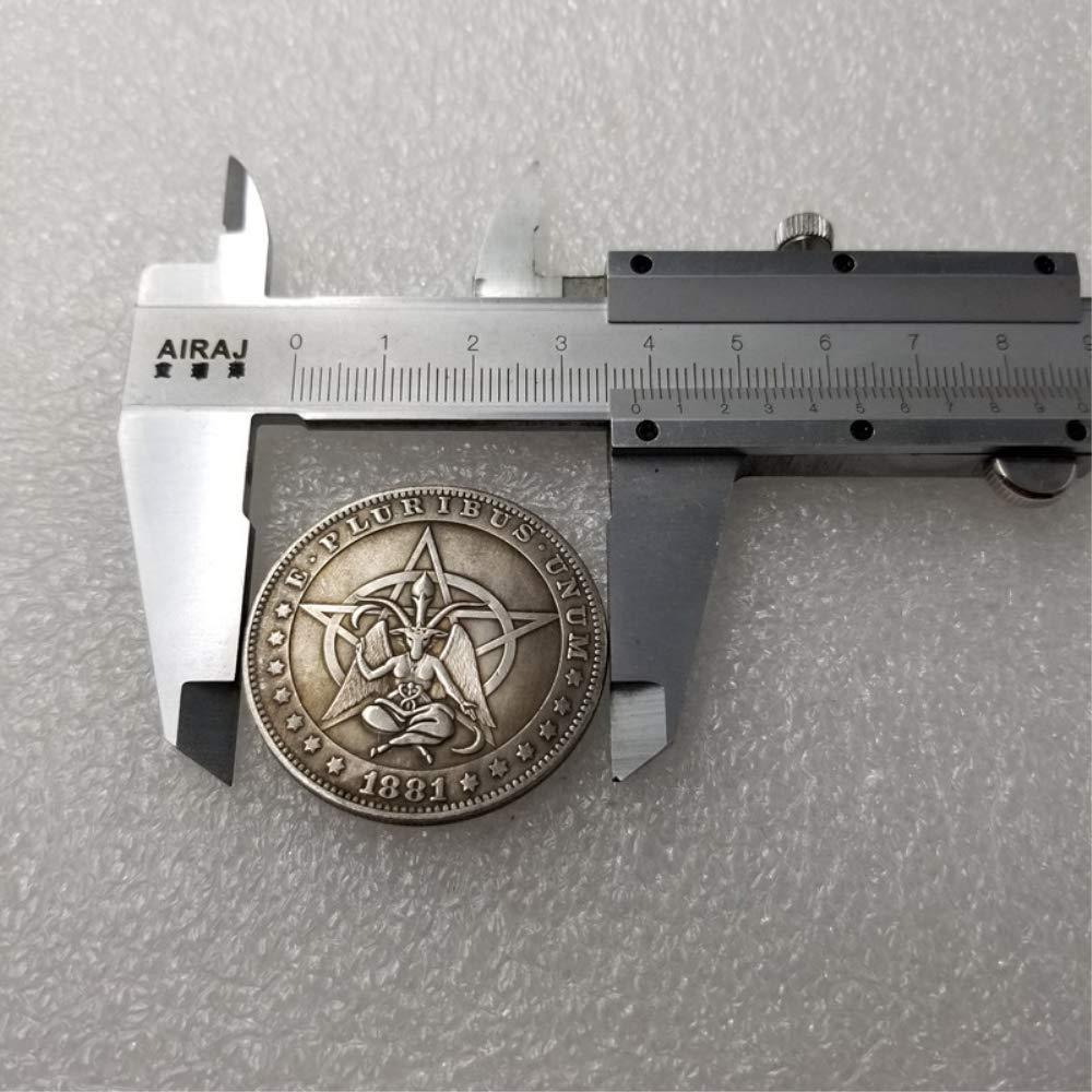 DDTing Best Morgan Dollari dArgento Hobo Nickel Coin 1881 Moneta da Collezione in Argento Dollaro USA Old Morgan Dollar goodService