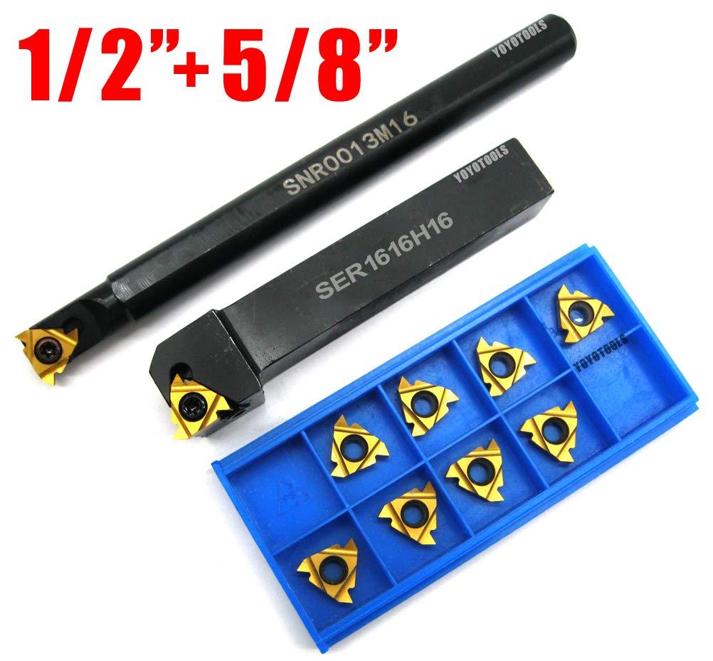 "3//4/"" BORING BAR  INDEXABLE THREADING  CNC LATHE16IR 10 PCS INSERTS"