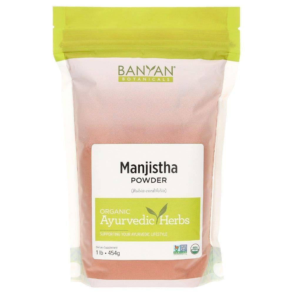 Banyan Botanicals Manjistha Powder, 1 Pound - USDA Organic - Rubia cordifolia - Cleanses The Blood & Lymph - Ayurveda by Banyan Botanicals