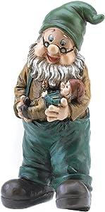 """Gifts & Decor Garden Grandpa Yard Gnome Outdoor Statue 10.6"""""""