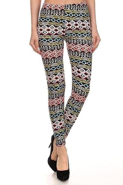 7307a98e6f9 Elegant4U Junior s Bold Chinle Bands Printed Leggings at Amazon ...