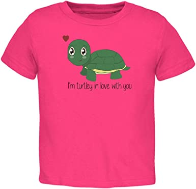 Old Glory Turtle Im Totally In Love With You Funny Pun Valentines Day Toddler T Shirt