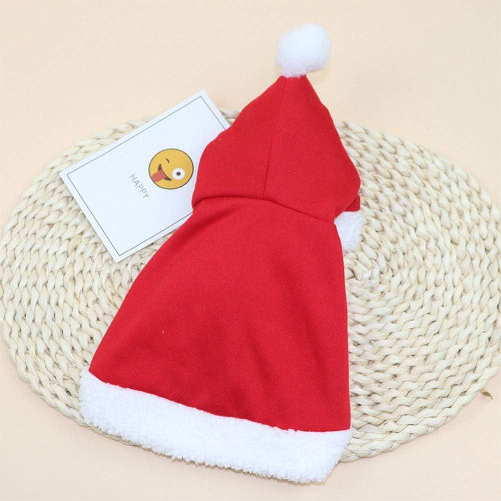 EFE Fe Poncho de Navidad con Gorro y Capa de Pap/á Noel para Gatos y Perros Small