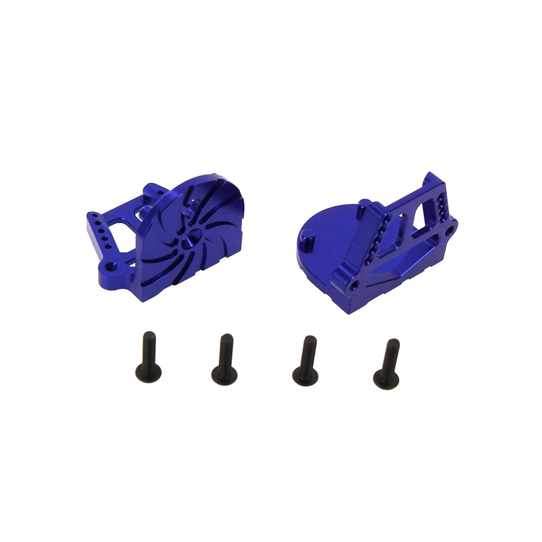 Blue TRX 7760 Atomik RC Traxxas X-Maxx Alloy F//R Motor Mount Set