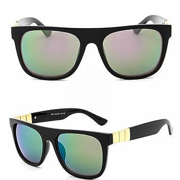 Damen Big Frame Sonnenbrille Polaroid Anti-Uv Sonnenbrille Helles Schwarzes Und Grünes Quecksilber lAoP06S