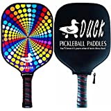 Duck Ranger—Graphite Pickleball Paddle—Polymer Birdbone Core And Waterproof Carbon Fiber Face, Pick Your Design, USAPA Approved (Multiple Color Options) (Kaleidoscope)