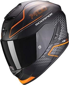 Scorpion Herren Nc Motorrad Helm Schwarz Orange L Auto