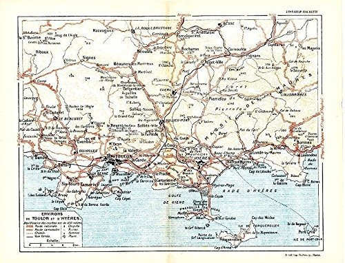 Amazoncom Toulon and Hyeres France 1943 World War II lithograph
