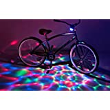 Brightz, Ltd. Boom Brightz Red Green Blue, Color Changing Rechargeable LED Bicycle Accessory with Bluetooth Speaker