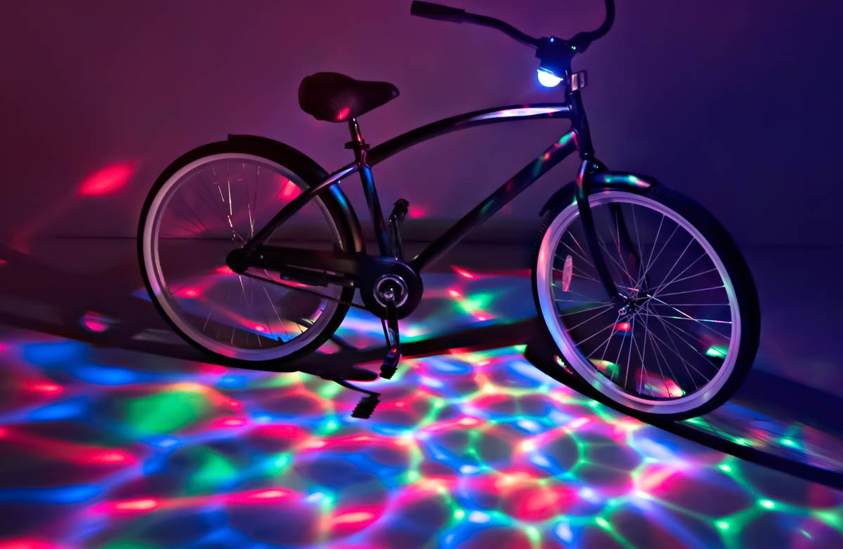 Brightz BoomBrightz Blinking Rechargeable LED Bicycle Accessory with Bluetooth Speaker, Red/Green/Blue by Brightz