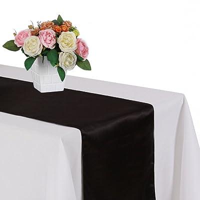 iShine Chemins de Table Unicolore Décoration Salle Mariage 30*275cm Linge de Table Simple Elégant Nappe Décor de Table Maison Salon à Manger pour Fête de Mariage Cérémonie Banqu