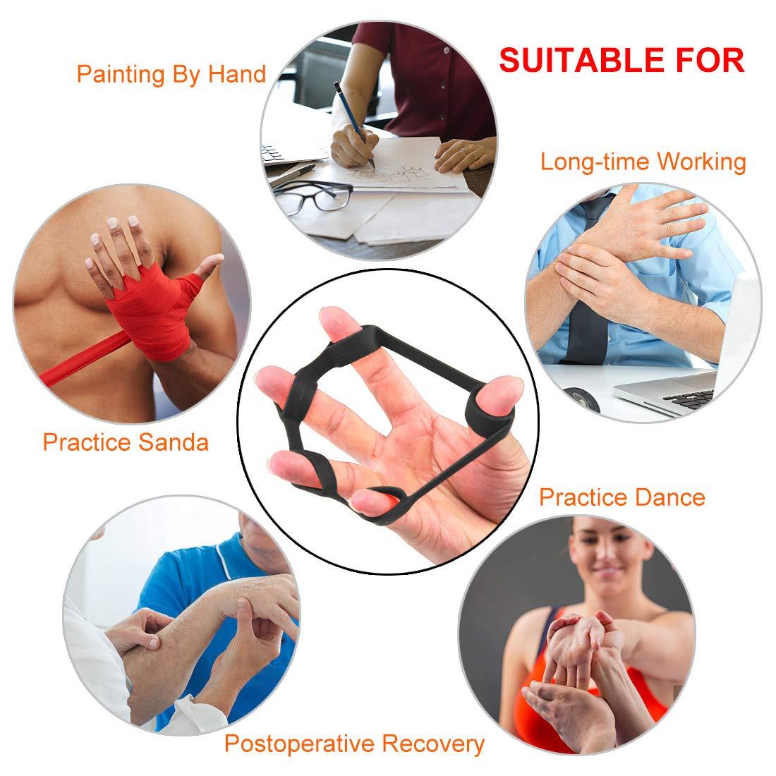 Hollyde poign/ées de Musculation Doigts,Hand Gripper Pince de Musculation exercer Sa souplesse de Main utiles pour R/é/éduquer Avant Bras et Mains