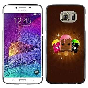 Be Good Phone Accessory // Dura Cáscara cubierta Protectora Caso Carcasa Funda de Protección para Samsung Galaxy S6 SM-G920 // Cute Icecream Friends