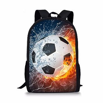 7401bae77ee5 Coloranimal Cool Children School Backpack 3D Football Printing Bookbags for  Boys