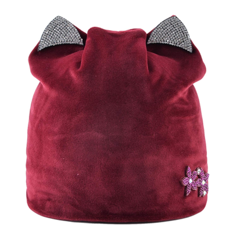 Amazon.com: Ron Kite Women Winter hat with Ear Cute caps Beanie Hats Rhinestone Casquette Femme Knit Beanies Cap Skullies Gorras: Clothing