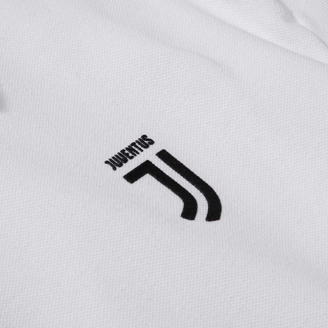 Originale Uomo Juventus Polo Bianca con Logo J Nero
