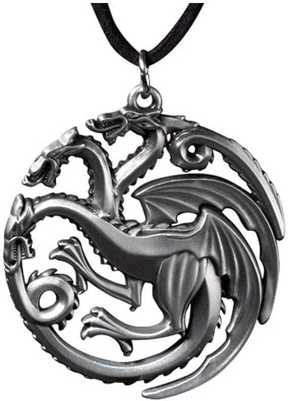 Haus Targaryen GoT Game of Thrones Anhänger mit Kette dreiköpfiger Drache
